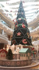 The Christmas tree and Nativity in the Emirati-owned City Centre shopping mall in the Beirut neighborhood of Hazmieh.